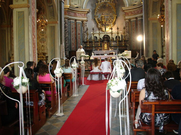 Castello Benso di Mercenasco - cerimonia in chiesa