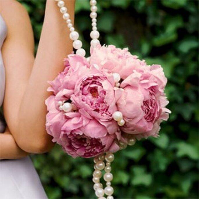Bouquet a borsetta con perline