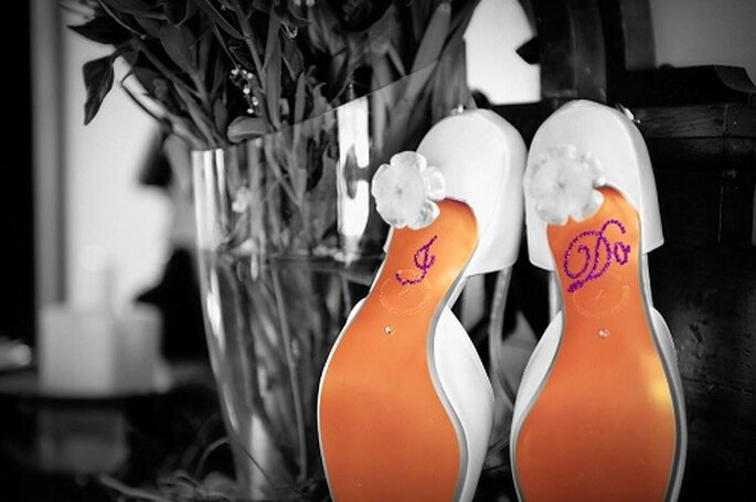 Pegatinas para zapatos. Foto: YourHappilyEverAfter