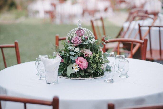 mesa casamento boho