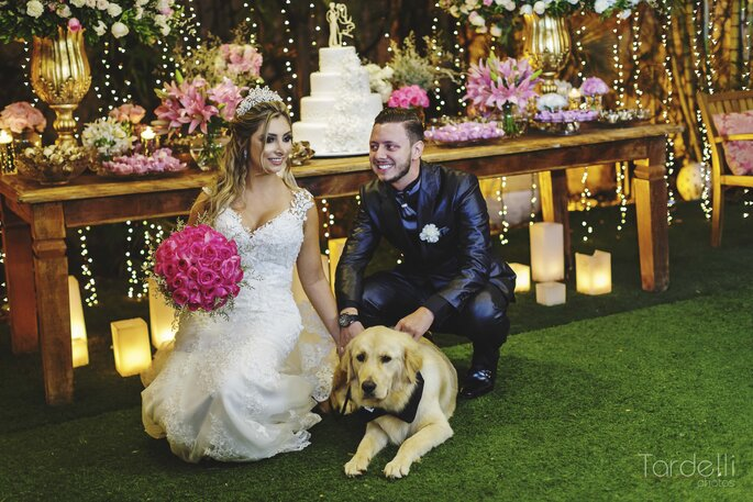 Cães no casamento