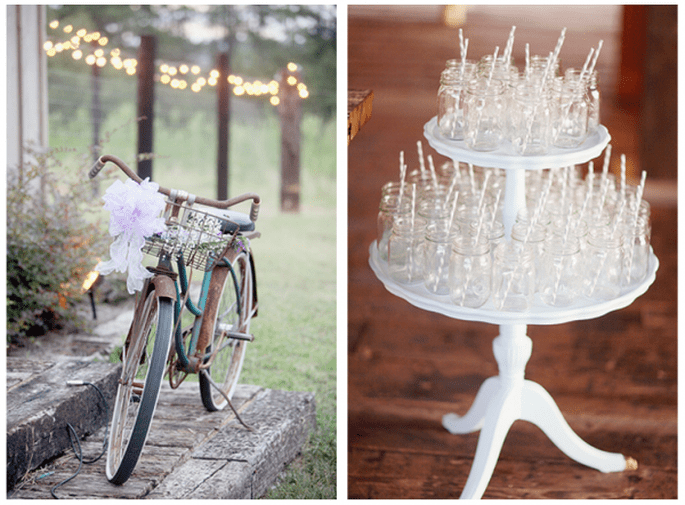 Decoración de una boda con bicicletas - Foto Simply Bloom Photography