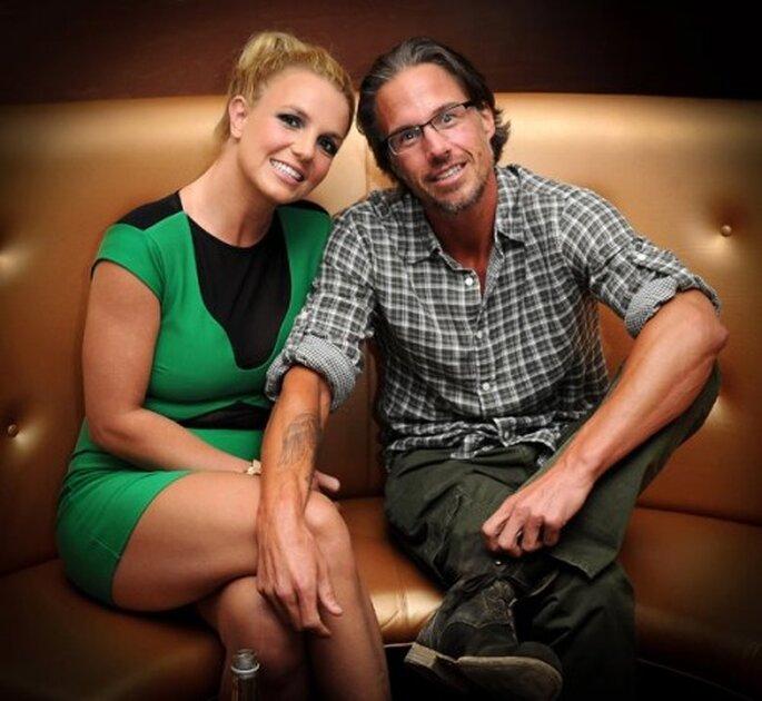 Britney Spears feliz con su prometido Jason Trawick - Foto Britney Spears Facebook