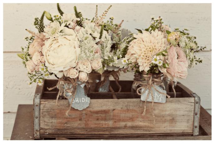 Decoración original para una boda vintage - Foto Ashley Maxwell