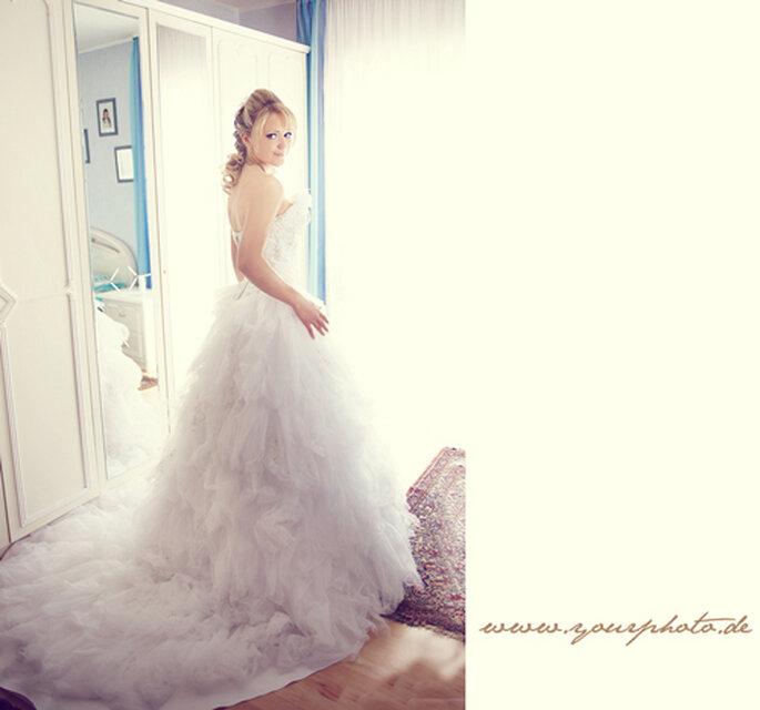 Ein Kleidertraum in Tüll - so heiraten nur Prinzessinnen!