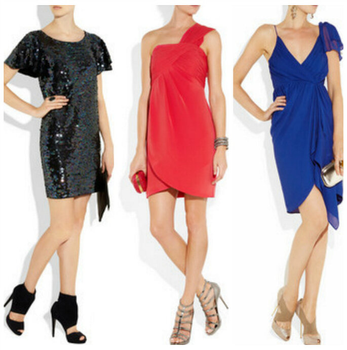 3 modelli di abiti per invitate Juicy Couture. Foto: Net-a-porter