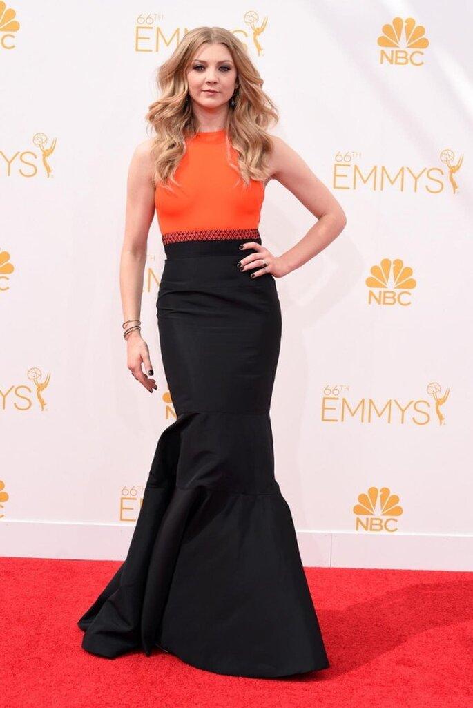 Natalie Dromer en la red carpet de los Emmys 2014 - Foto JMendel
