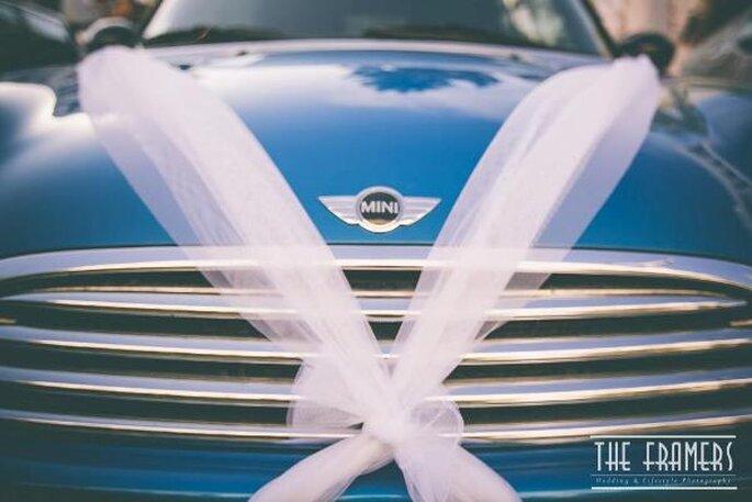 Decorazioni sull'auto degli sposi - Foto: The Framers