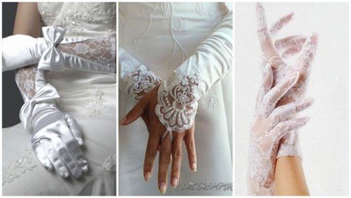 3 propuestas de guantes de novia con encaje