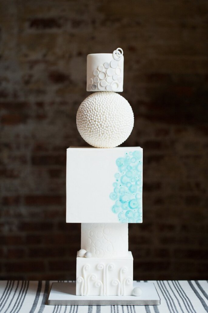 Pasteles de boda que romperán esquemas en 2015 - Foto Melissa Kruse