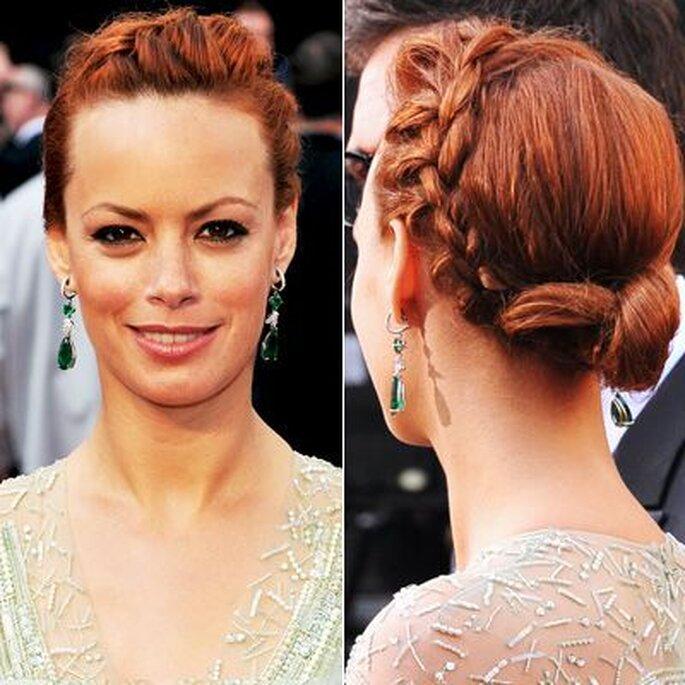Un recogido con trenza en una buena opción como lo lleva Berenice Bejo en los Oscars2012. Instyle.com