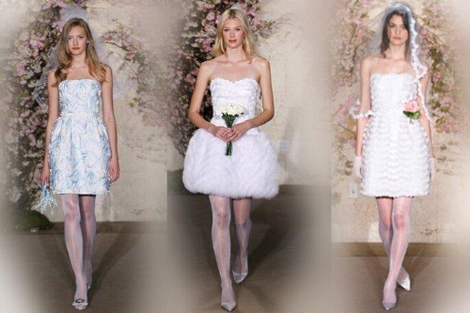 Kurze Hochzeitskleider von Oscar de la Renta