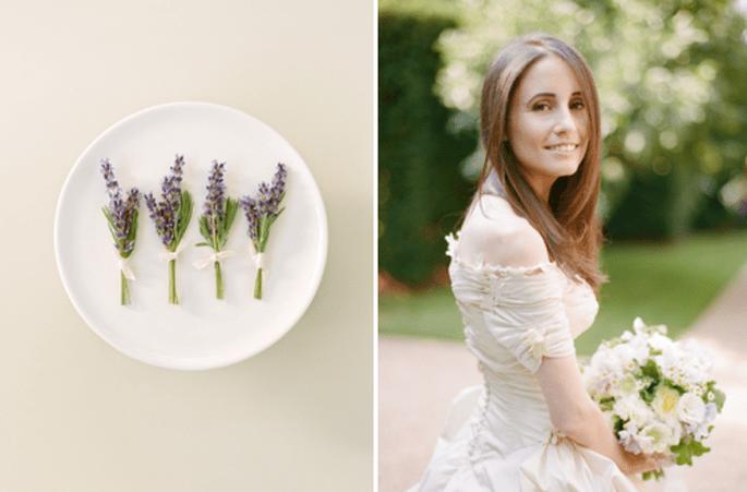 10 originales y coloridos bouttonieres para tu boda. Fotografía Aaron Deleise