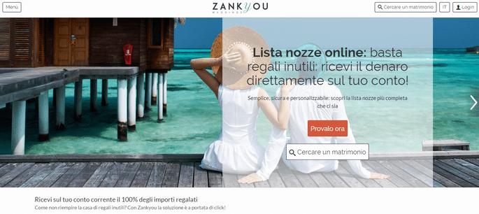 La tua lista nozze cash sul conto con Zankyou: bastano due click!