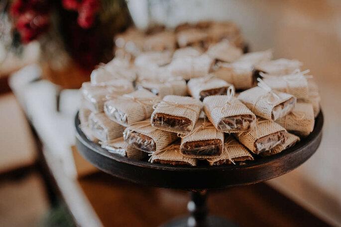 Brownies para casamento