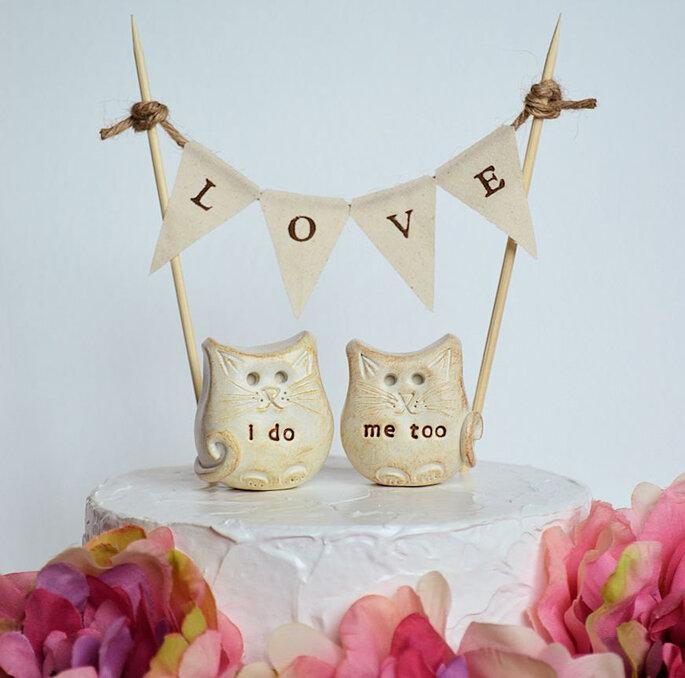 Die schönsten Cake Topper für Ihre Hochzeitstorte