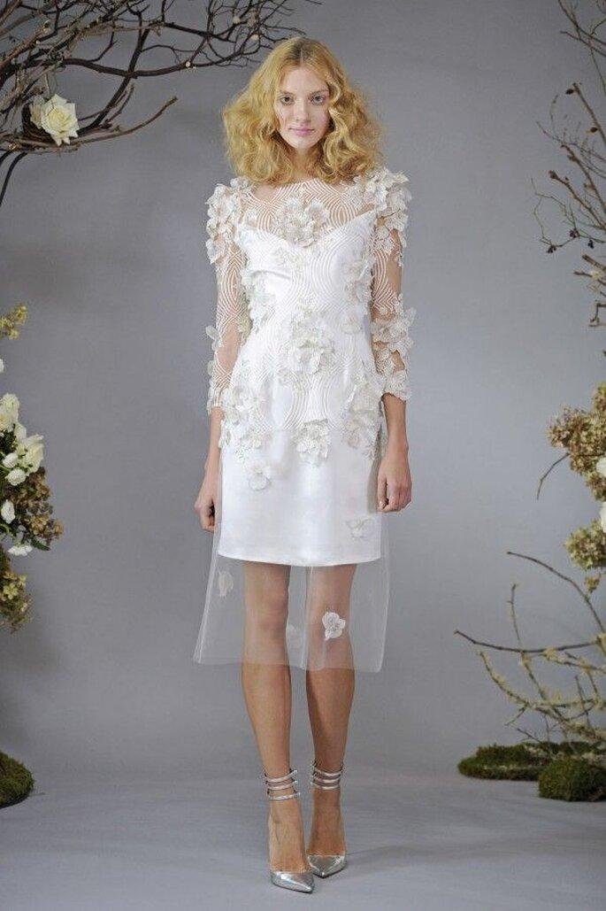 Vestidos de novia cortos que nos fascinan - Foto Elizabeth Fillmore