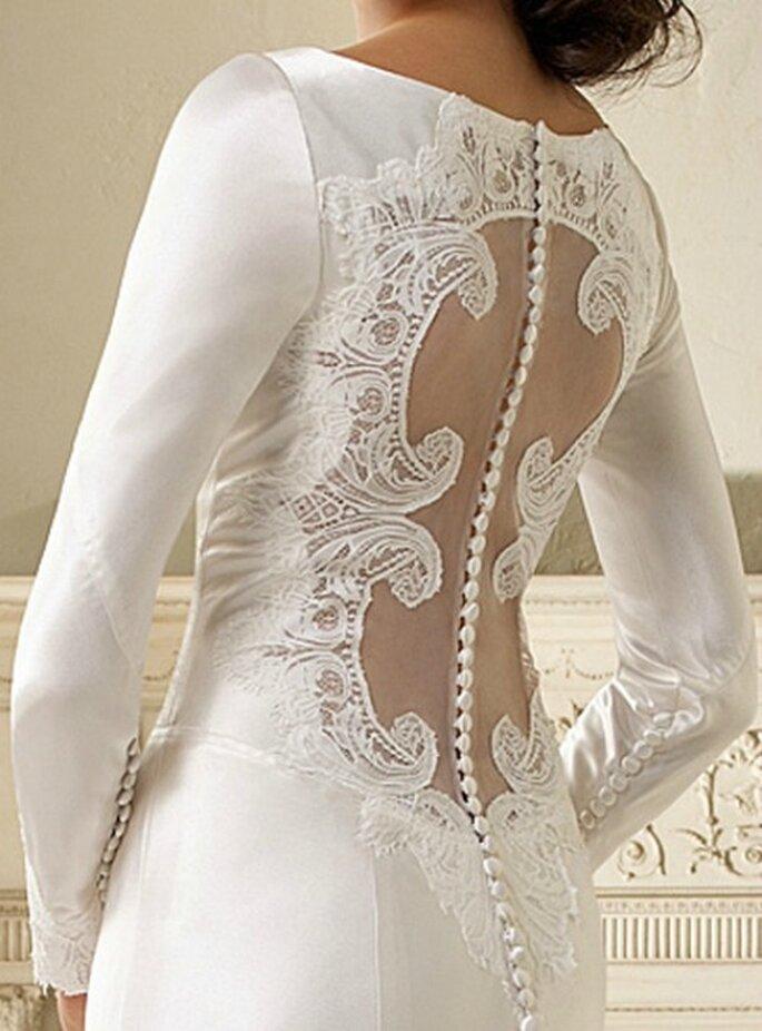 Detalle espalda vestido de novia, película La Saga Crepúsculo. Foto: Carolina Herrera.