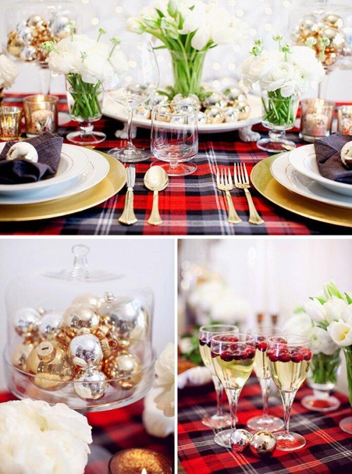Decoración de boda inspirada en una tradicional cena de Navidad - Foto Jodi Miller Photography en The Brides Cafe