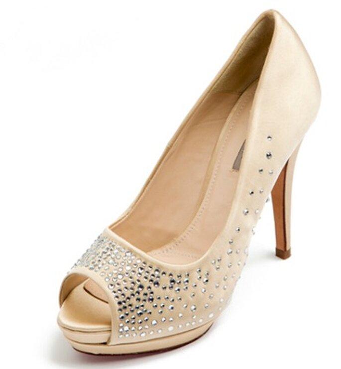 Chaussures de mariée nude Uterqüe