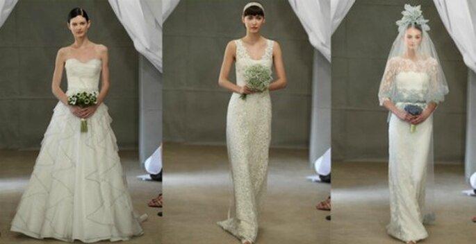 Anche Carolina Herrera riscopre il pizzo come fonte di femminilità per la sposa. Spring Collection 2013