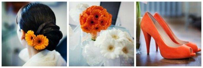 pomarańczowe buty do ślubu