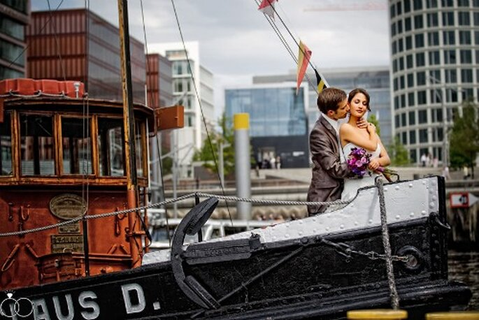 Hochzeit in Hamburg. Perfekte Idylle. Foto: Katja Schünemann. ks-weddings.de