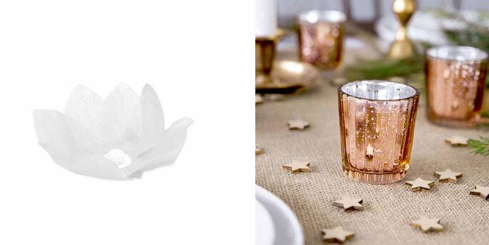 Flor Flotante De Papel Blanco