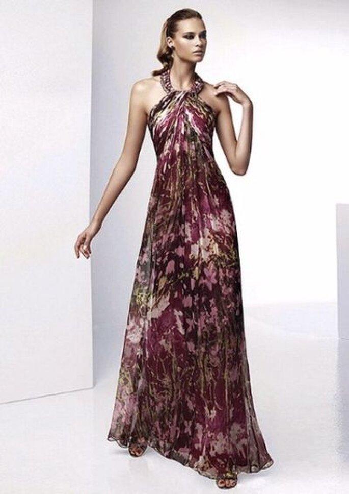 elegantes Kleid für Hochzeitsgäste! - vestido largo fiesta estampado_pronovias