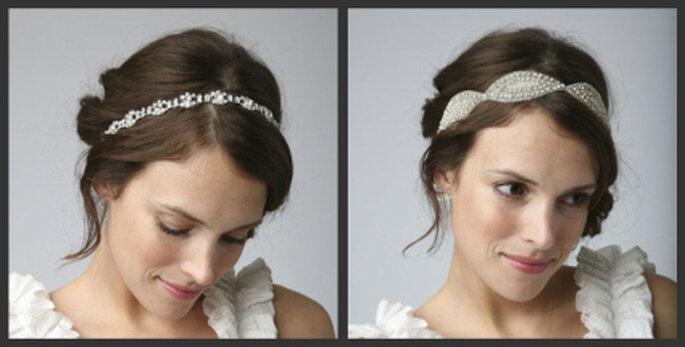 Links: Sandra Vintage Bridal Headband, rechts: Calista Vintage Bridal Headband