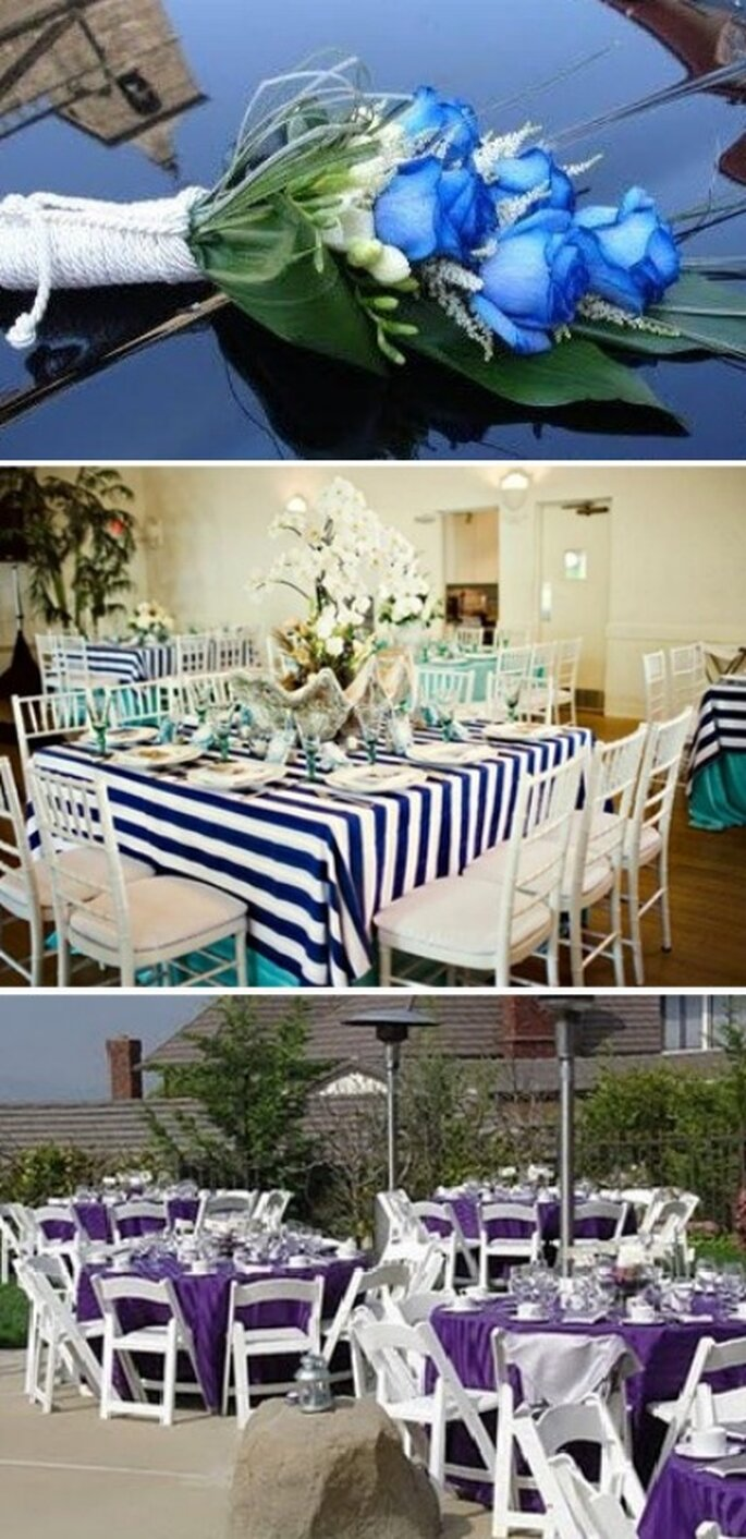Recrear ambiente marino para la boda