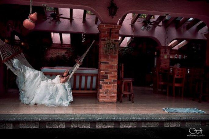 Sesión de fotos muy original con la novia - Foto Arturo Ayala