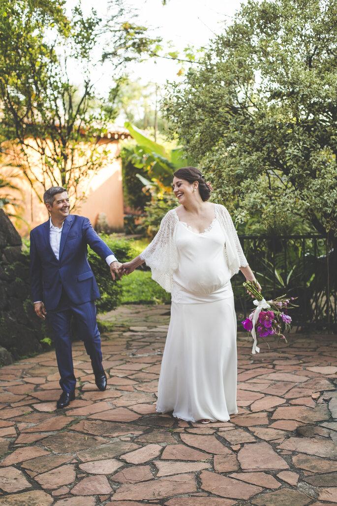 vestido de noiva grávida