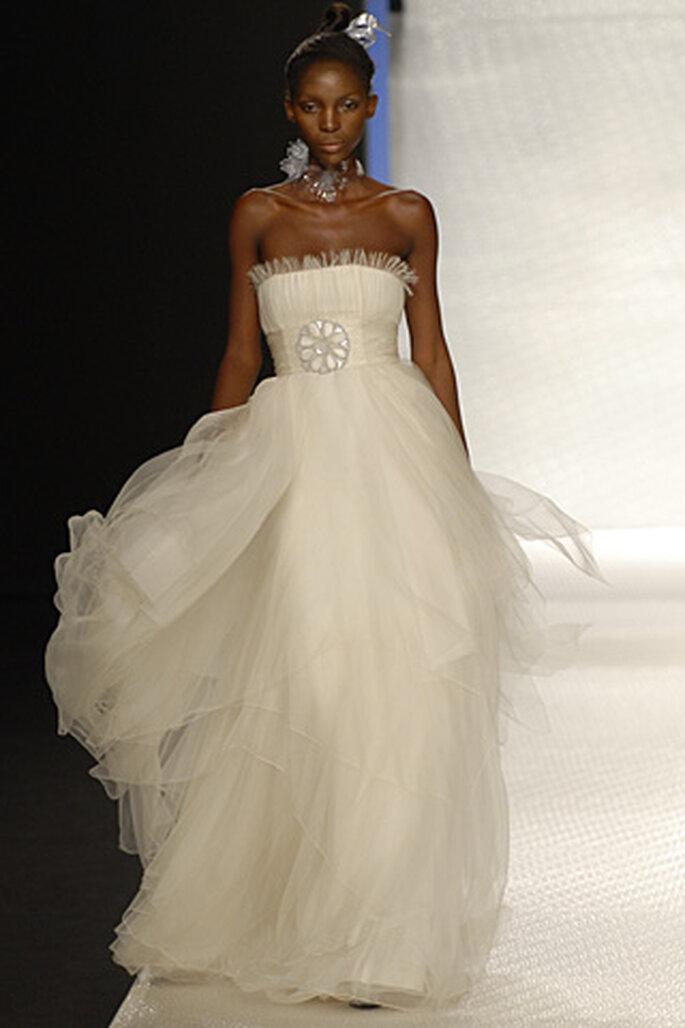 Vestido de novia Rosa Clará - con cinturón