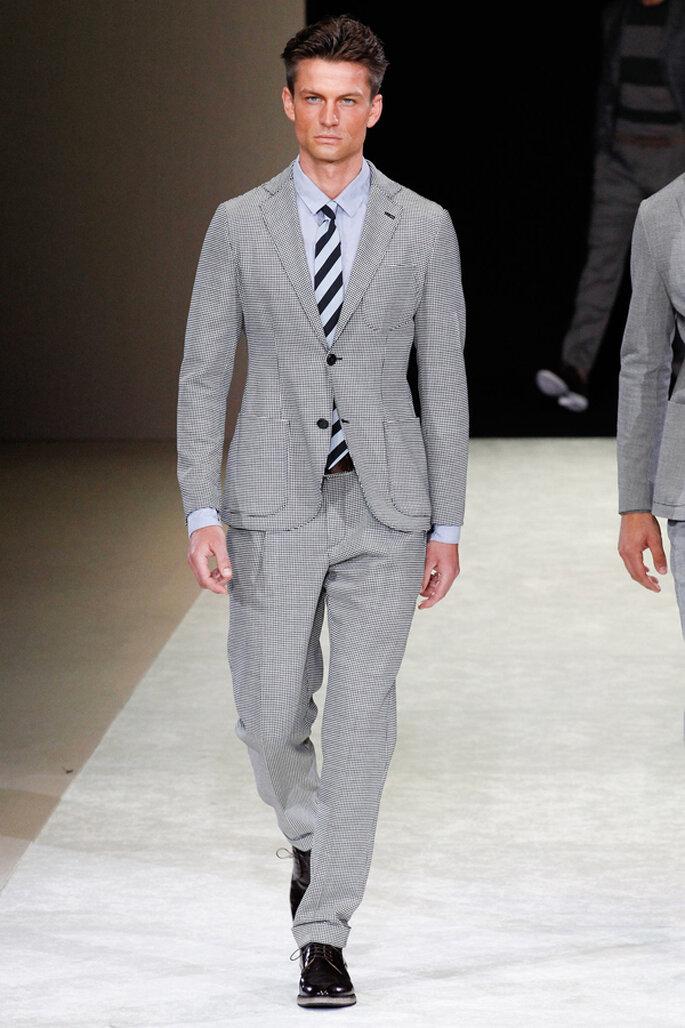 Tendencias masculinas para los novios del 2015. Foto: Giorgio Armani