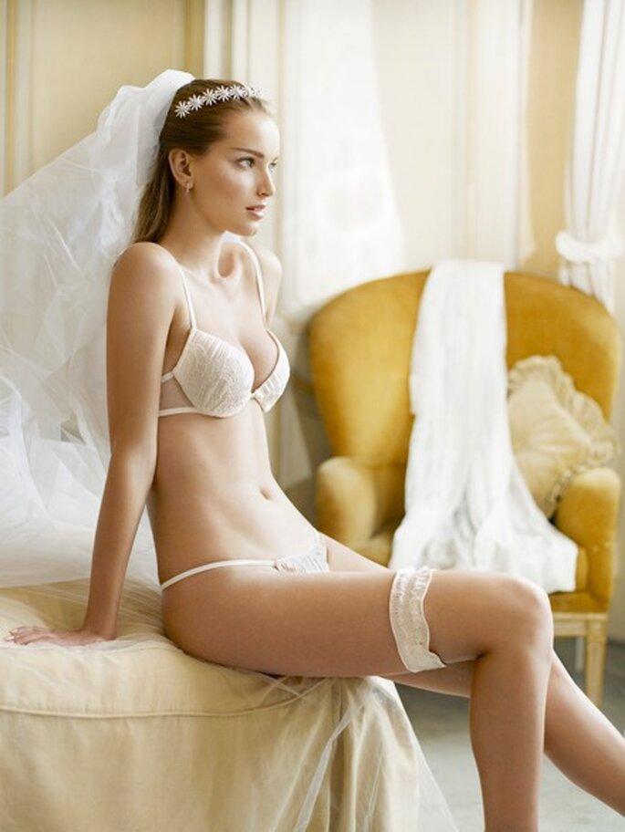 Lencería blanca para noche de bodas La Perla