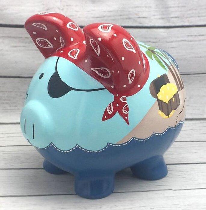 Como dar dinheiro para os noivos de forma original - Cofrinho cheio
