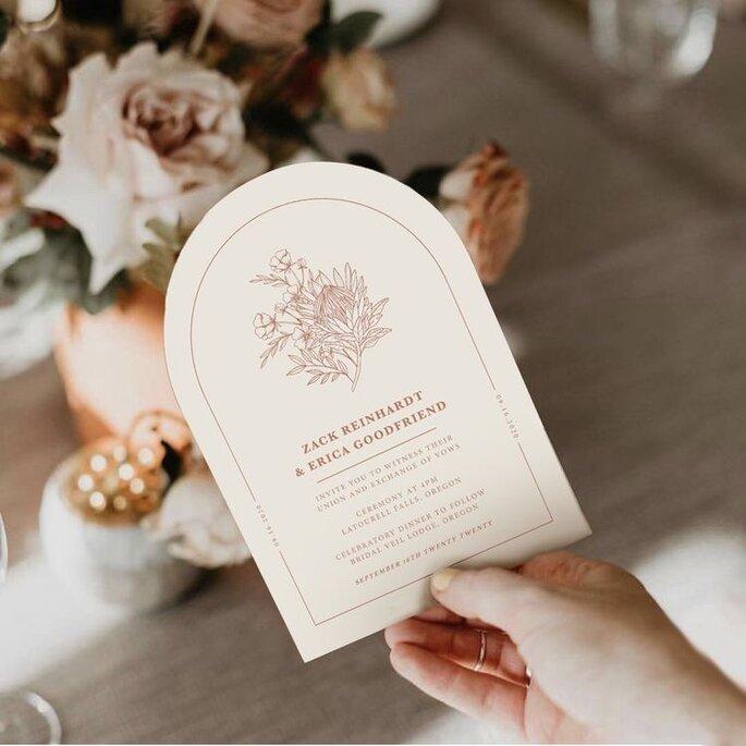 Hochzeitseinladungen Trends abgerundetes Design