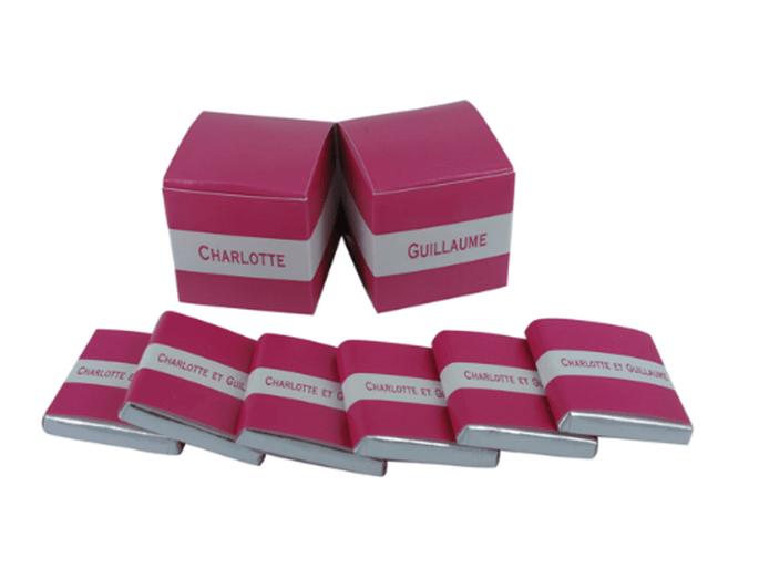 Doubles cubes ou chocolat en vrac, à vous de choisir ! - Photo : Chocolat de Mariage