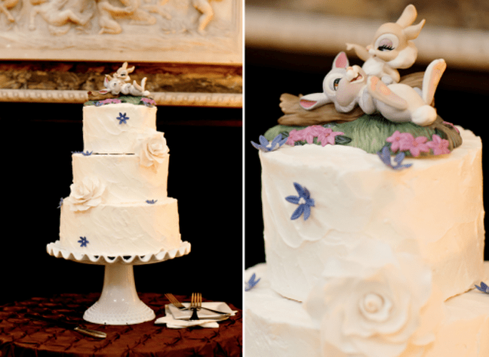 4 Tendencias en pasteles de boda 2014. Fotografìa Jen Lynne