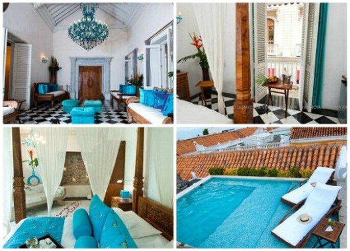 Hotel Boutique en Cartagena de Indias. Foto: Hotel Aguamarina.