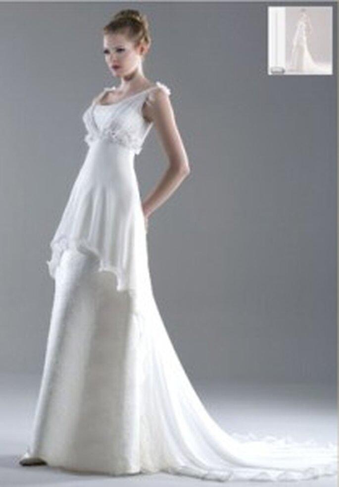Vestido de novia - Esther Rodríguez - Vestido abierto en pétalo
