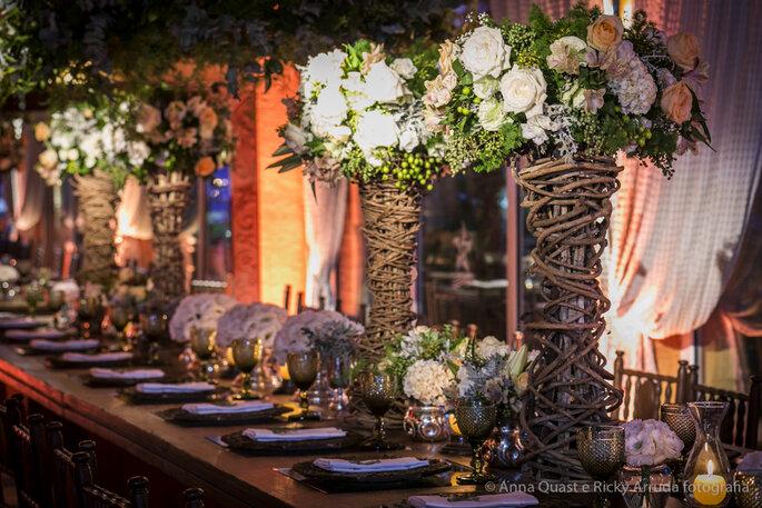 Decoração e Flores: Ninha Flor | Foto: Anna Quast e Ricky Arruda