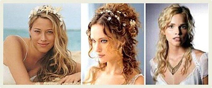 Novias con pelo suelto y sin velo, apostando por ser originales