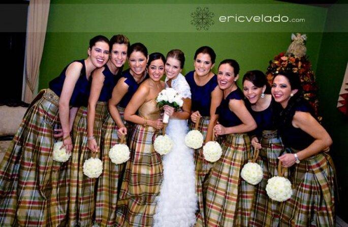 Brautjungfernkleider aufeinander abgestimmt Foto: Eric Valedo