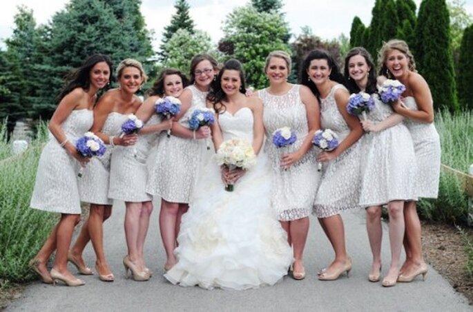 Todo lo que debes saber sobre moda, estilo y tendencias para damas de boda 2013 - Foto Erin Sage