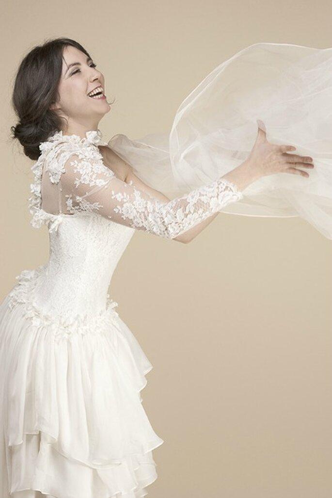 Robe de mariée sur mesure Steva Couture, modèle Sandra
