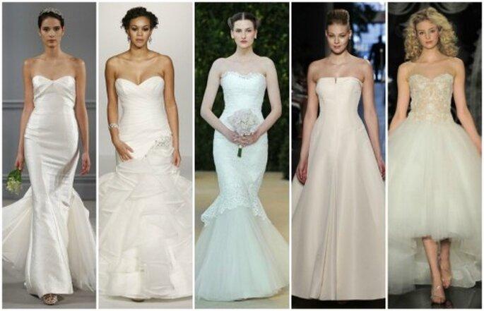 Suknie ślubne 2014 20 Najpiękniejszych Projektów Bez Ramiączek