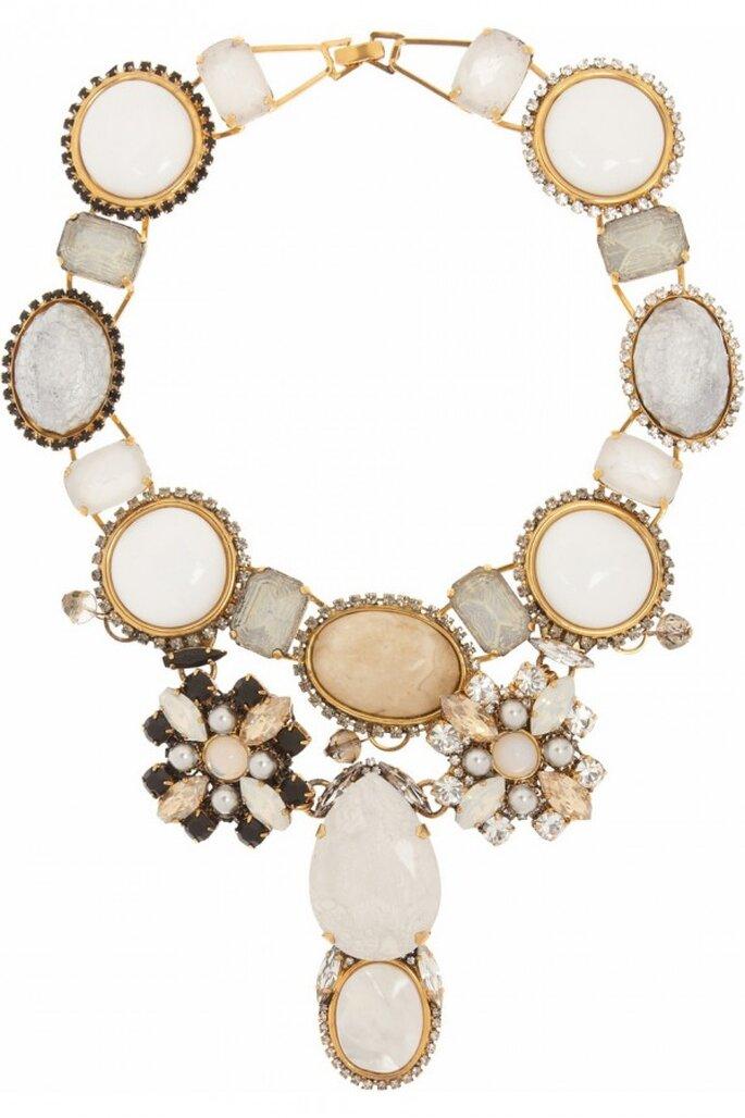 Statement necklaces para novia en tendencia - Foto Vickisarge
