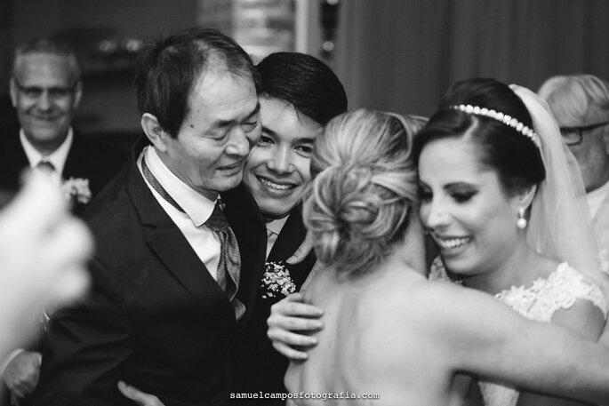 noivos e familiares